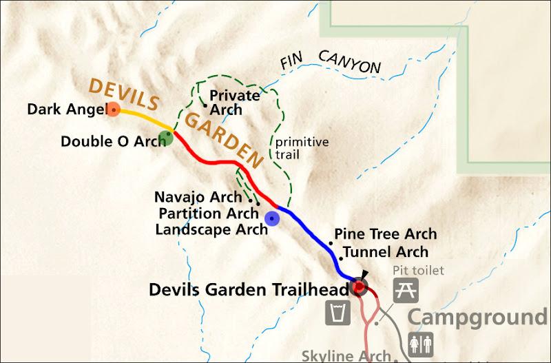 Devils Garden Trailmap