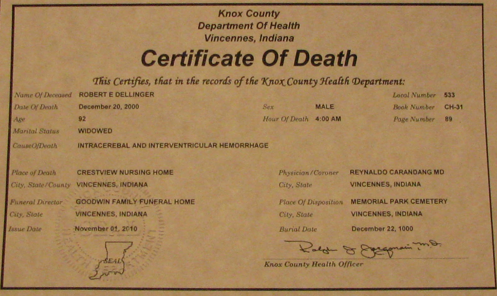 A grave interest death records and mortality schedules death records and mortality schedules xflitez Choice Image