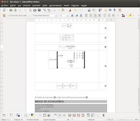 Numeración de ecuaciones en LibreOffice