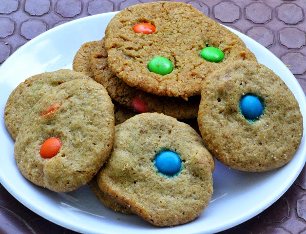 M&M Cookies Recipe | Eggless Gems Candy Cookies | Step by step pictures | Recipe developed & written by Kavitha Ramaswamy of Foodomania.com