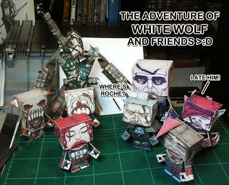 The Witcher 2 Papercraft Overload