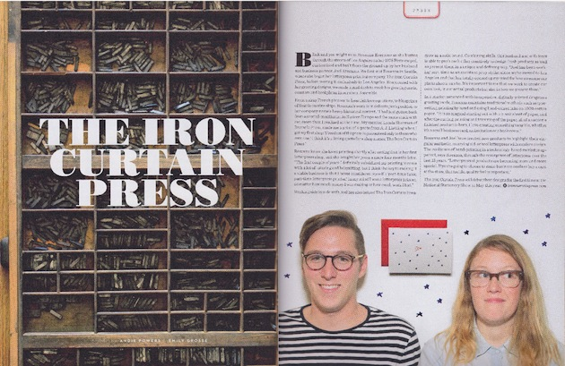 uppercase magazine iron curtain press