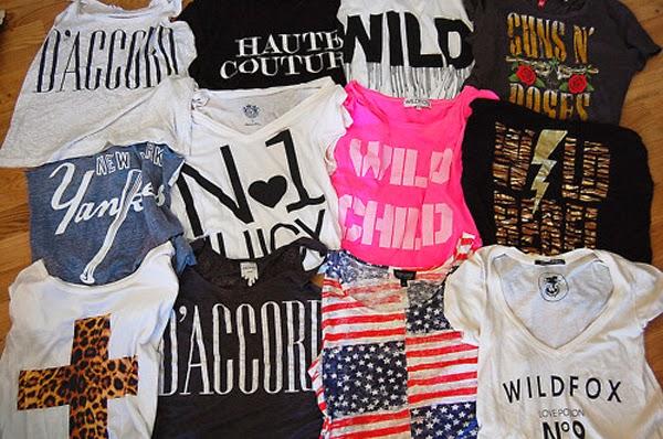 camisetas inspirações