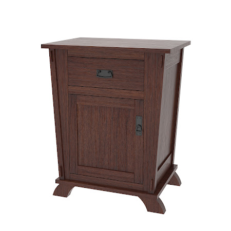 Matching Furniture Piece: Baroque Nightstand with Door, Stormy Walnut