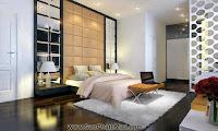 Thiết kế nội thất đẹp cho phòng tân hôn theo phong thủy - TỦ ÂM TƯỜNG