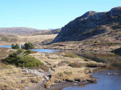 Le lac Fourchu, dans le massif de Taillefer