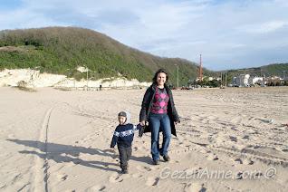 Ağva plajında dolaşırken