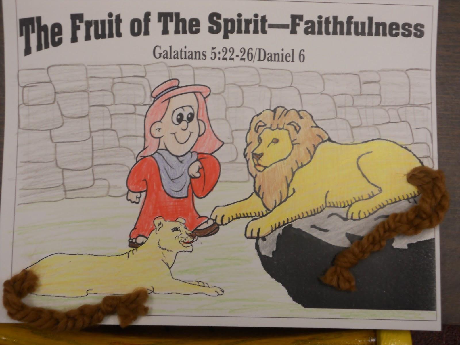 hands on bible teacher fruit of the spirit faithfulness