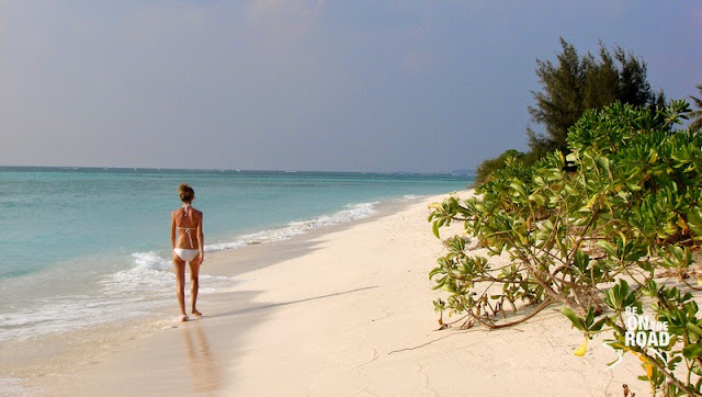 White sands of Kadmat Island