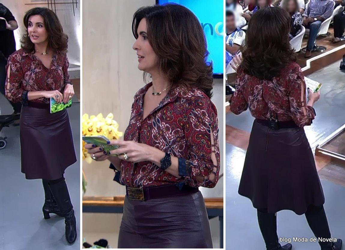 moda do programa Encontro - look da Fátima Bernardes dia 20 de junho