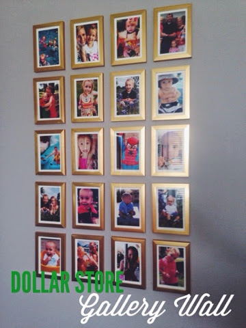 Dollar Store Gold Frame Instagram Gallery Wall