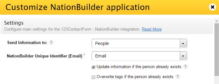Error code 409 for NationBuilder app | 123FormBuilder Help