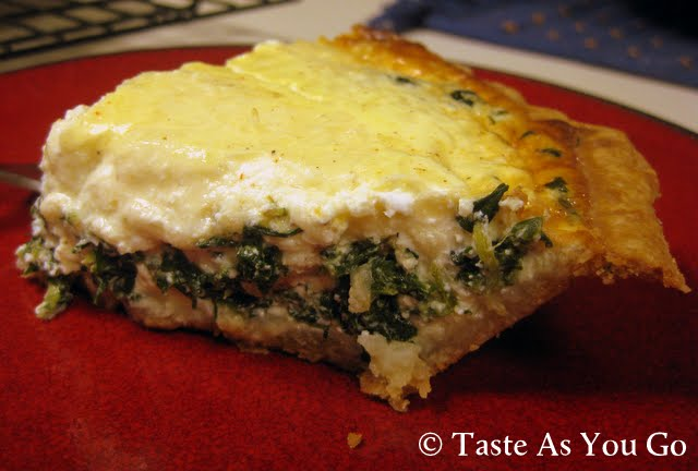 Spinach and Gruyere Quiche - Photo by Michelle Judd of Taste As You Go
