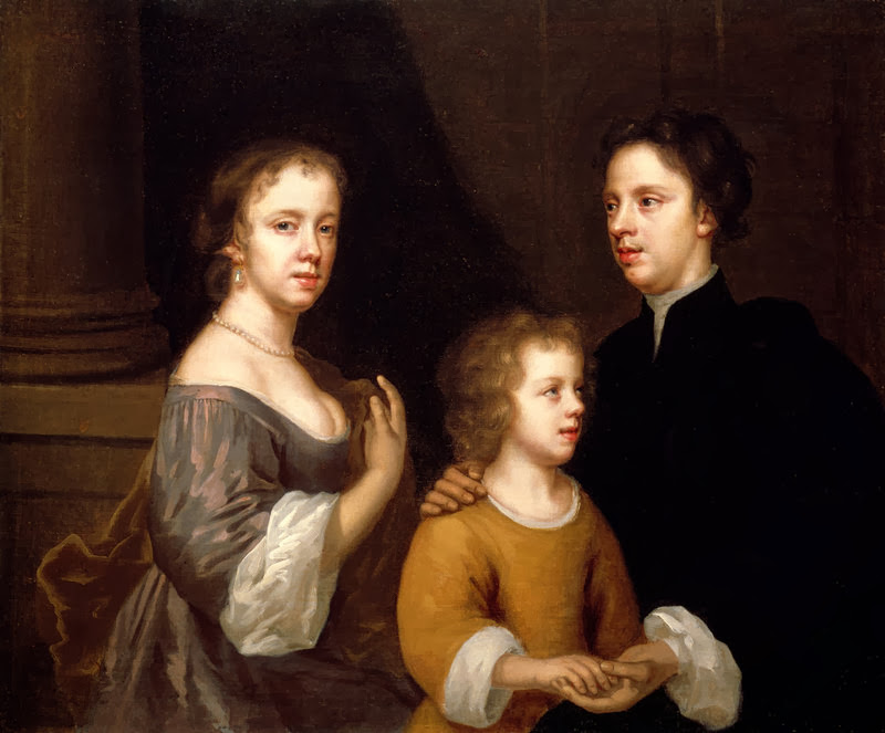 Mary Beale - Self-portrait with her husband and son