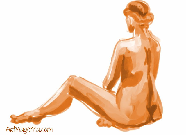 New Diet is a life drawing from ArtMagenta.