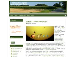 Wordpress Nature Blog