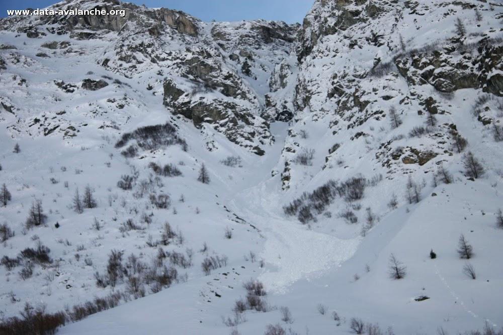 Avalanche Haute Maurienne, secteur Pointe d'Andagne, Couloir du Midi - Photo 1