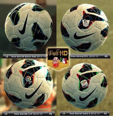 Bolas Nike MAXIM Temporada 2012-13 - PES 2012