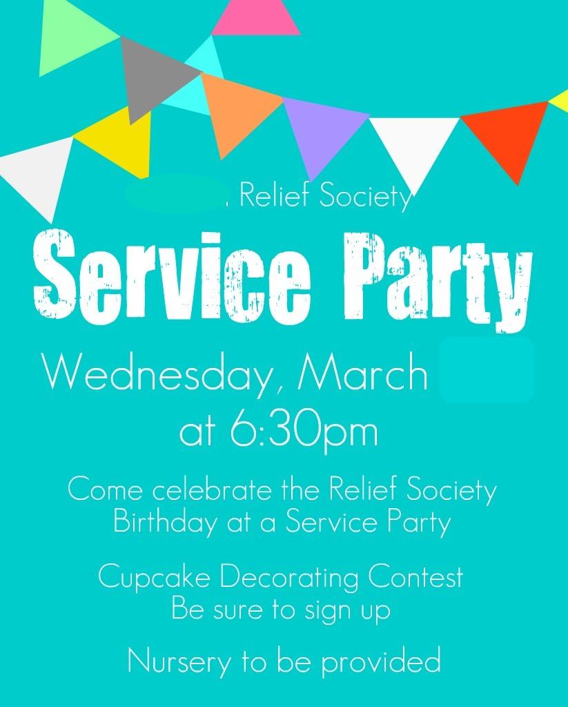 Creation Corner: Relief Society Birthday Service Party