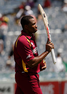 Kieron Pollard scored 94 in just 55 balls, Ireland v West Indies, Group B, World Cup, Mohali, March 11, 2011