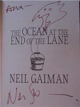 Signed copy of The Ocean at the End of the Lane