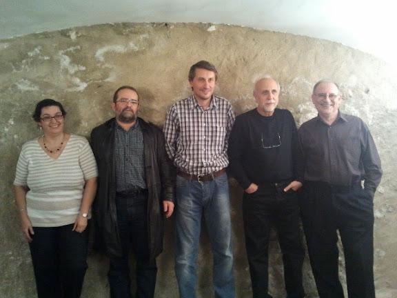 Pepa Agüera, JJM Ferreiro, Pablo Ibáñez, Julio G. Alonso y Paco Mallada