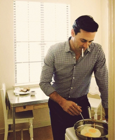 Mad men style Hamm & eggs