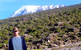 Posing infront of the peak