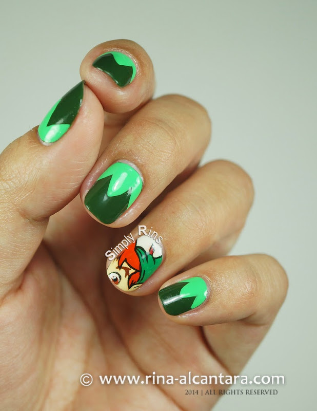 Peter Pan (A Tribute to Robin Williams) Nail Art