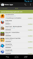 Play Store verfügbare Apps