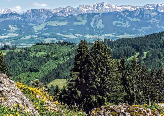 Gunzesried Blick von Dürrehorn Alpe, Nagelfluhkette Allgäu