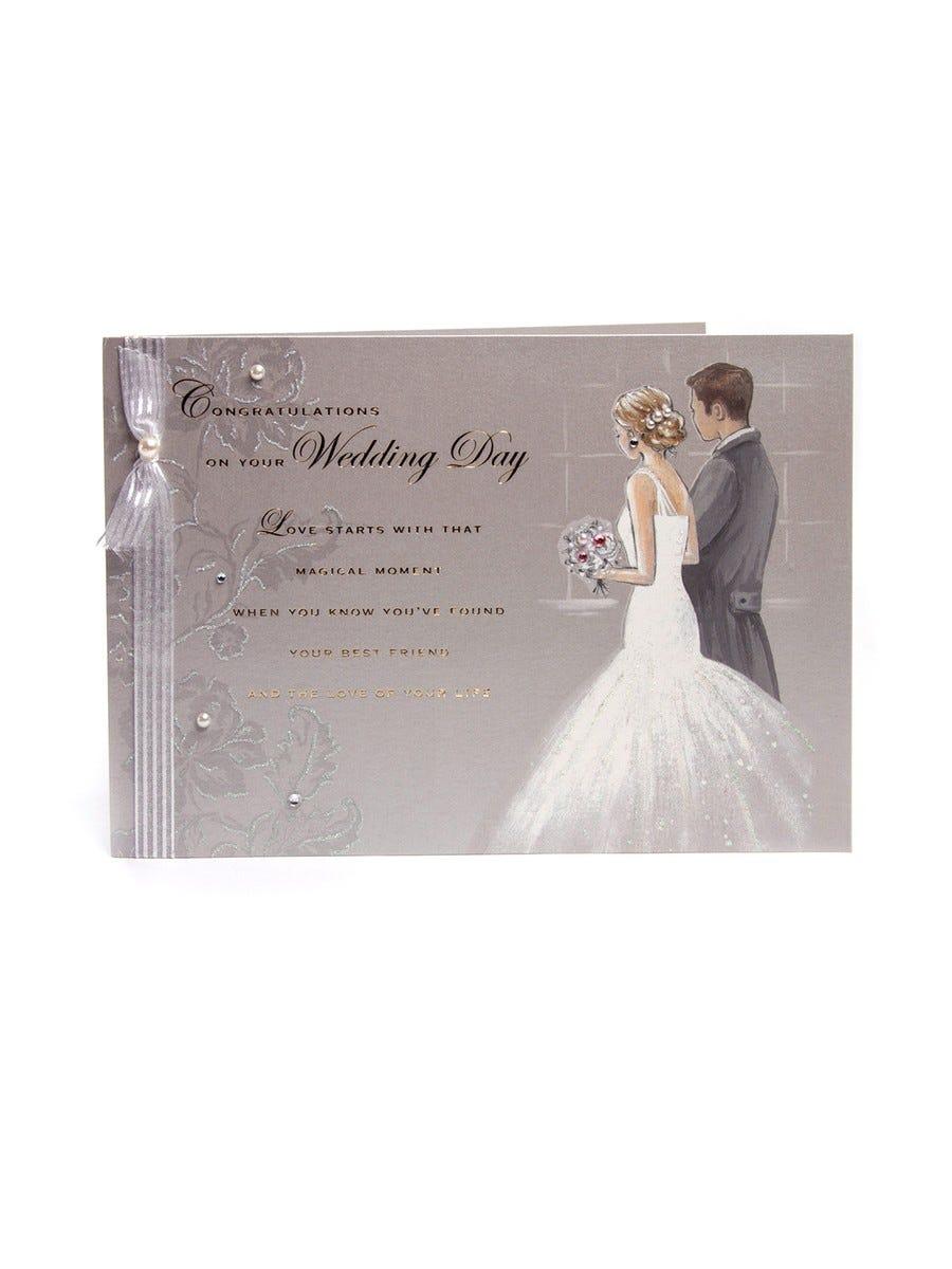 Clintons Girl In Dress Wedding Card