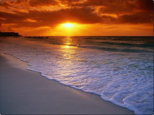 Sunrise Over the Caribbean Sea, Playa del Carmen, Mexico.jpg