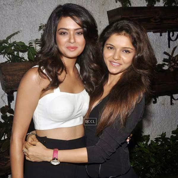 Surveen Chawla and Rubina Dilaik at the premiere of Bollywood movie Hate Story 2, held at Super Sunny Sound in Mumbai, on July 17, 2014.(Pic: Viral Bhayani)