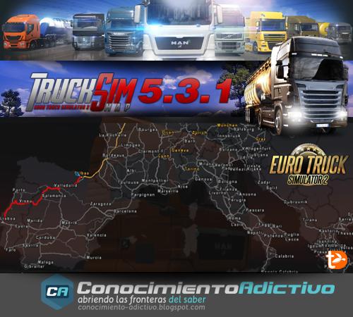 TruckSIM Map 5.3.1 para ETS2 1.15.x