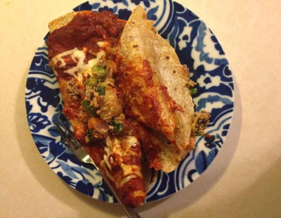 Easy enchiladas ready to eat