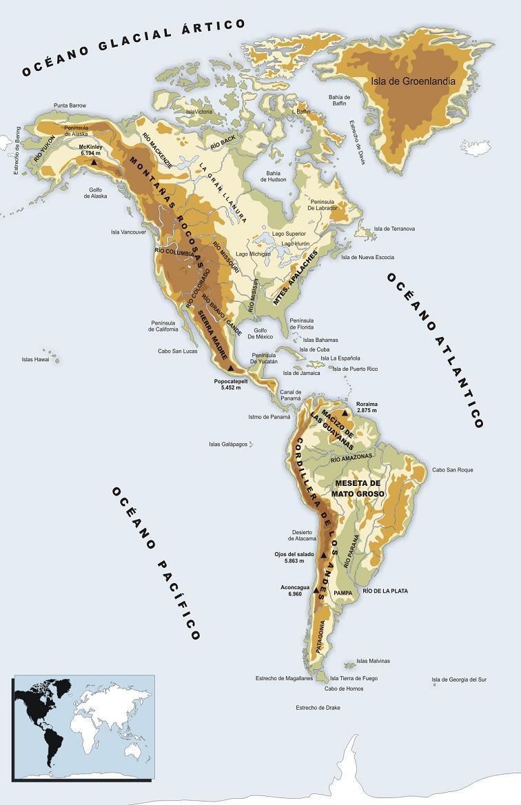 jairo rios Mapa fsico de Amrica