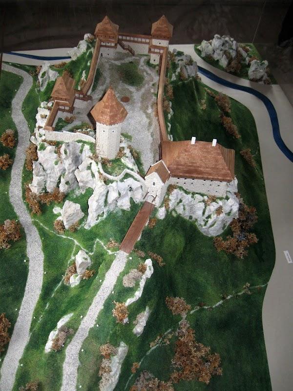 Oryginalny wygląd zamku - makieta