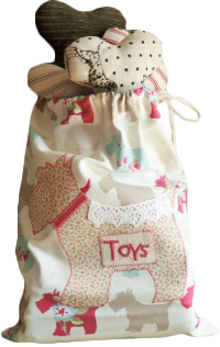 Puppy Toy Bag, Dog Toy Sack, Dog Toy Storage