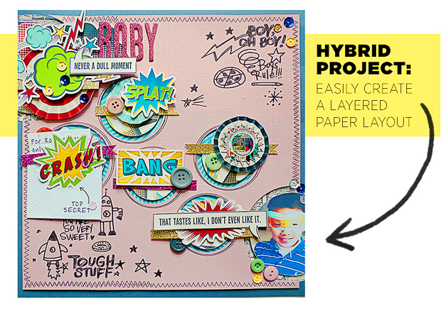 Hybrid Project // Create a Layered Paper Layout Using a Digital Template // Part 2 // Silhouette Tips & Tricks