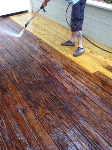 Shaboo Ct Cleaning Llc Stripping Stain Off Of A Deck In