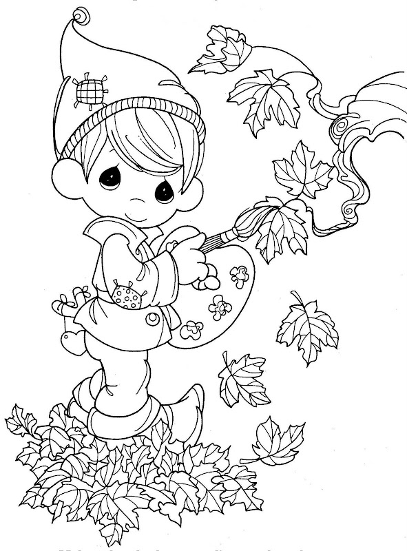 precious moments chritsmas coloring pages - photo#26