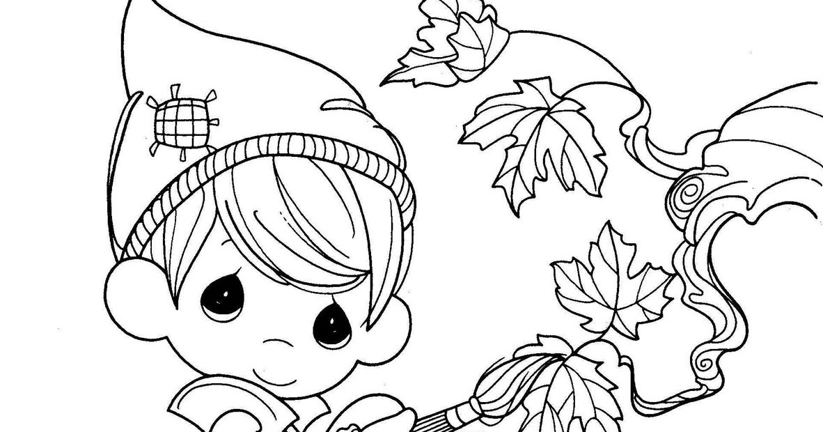 Autum free precious moments coloring pages coloring pages for Precious moments halloween coloring pages