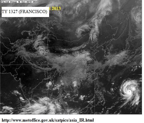 typhoon Francesco 18th oct 2013
