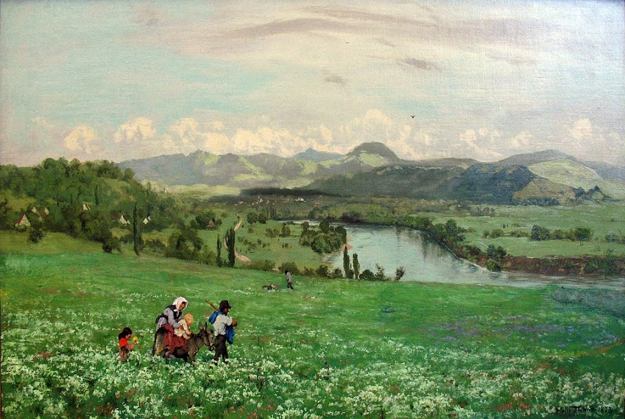Hans Thoma - The Rhine near Säckingen