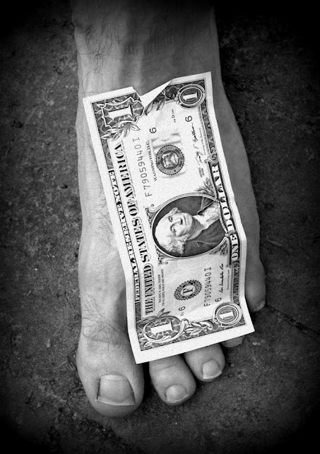 Foot with dollar