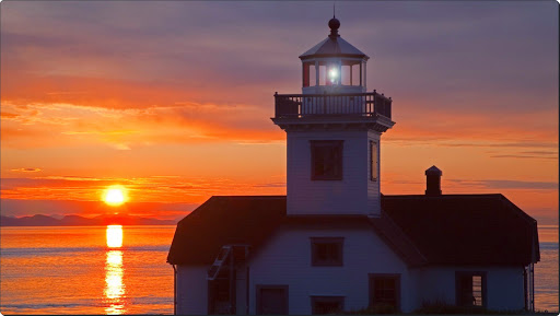 Lighthouse at Sunset, Patos Island, San Juan Islands, Washington.jpg