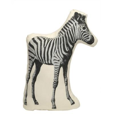 Fauna animal cushions by Areaware zebra
