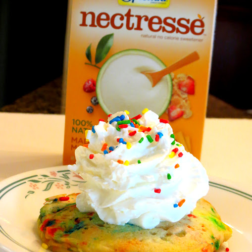 Birthday Cake Pancake Recipe with Nectresse Sweetener