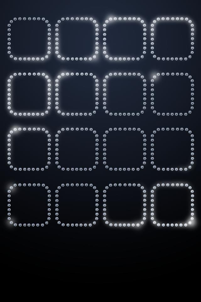 Crystal Shelves Desktop Wallpapers For iPhone4